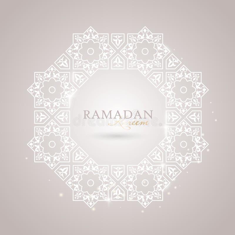 Ramadan Kareem-Grußschablone lizenzfreie stockfotografie