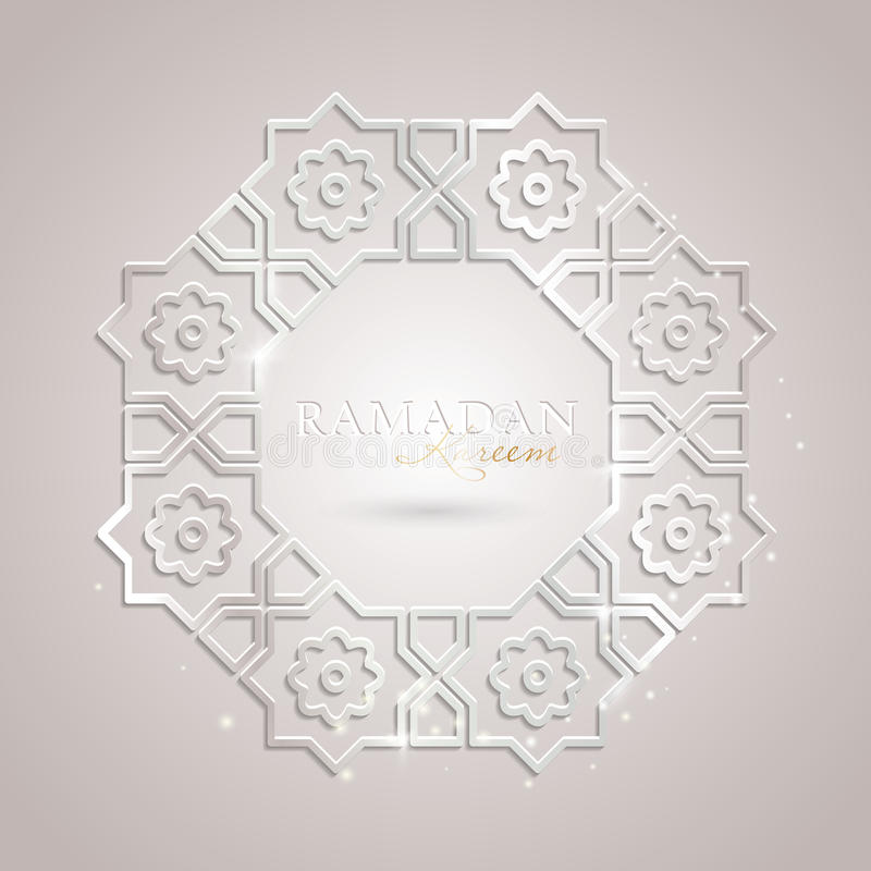 Ramadan Kareem-Grußschablone stockfotos