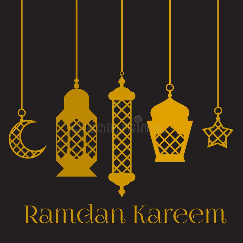 Ramadan Kareem - grupo da cultura noites, fundo do projeto do tema, da religião santamente islâmicos da ramadã latern, do fest de ilustração do vetor