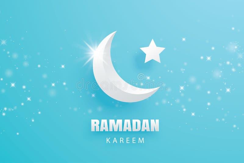Ramadan Kareem-het document van de groetkaart kunstachtergrond Eid Mubarak m royalty-vrije illustratie