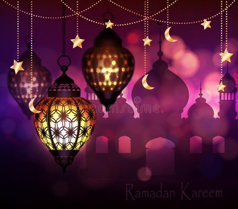 Ramadan Kareem, Hintergrund grüßend stock abbildung
