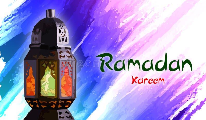 Ramadan Kareem Ilustración del vector Celebración, fanus de la linterna stock de ilustración