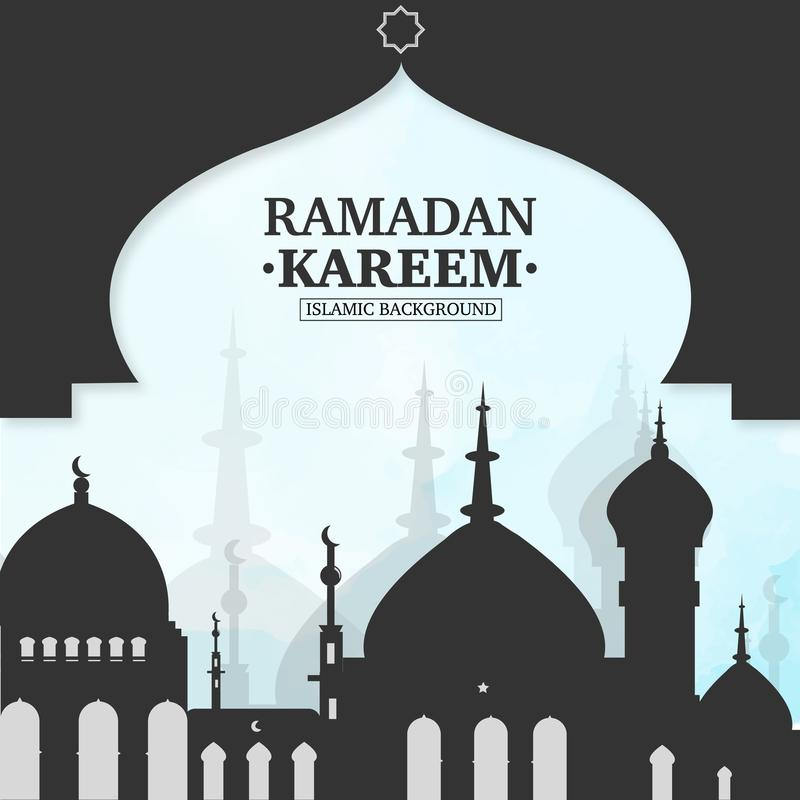 Ramadan Kareem islamic background royalty free illustration