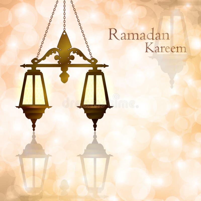 Ramadan Kareem. The month of Ramadan. Light Bokeh background. vector illustration