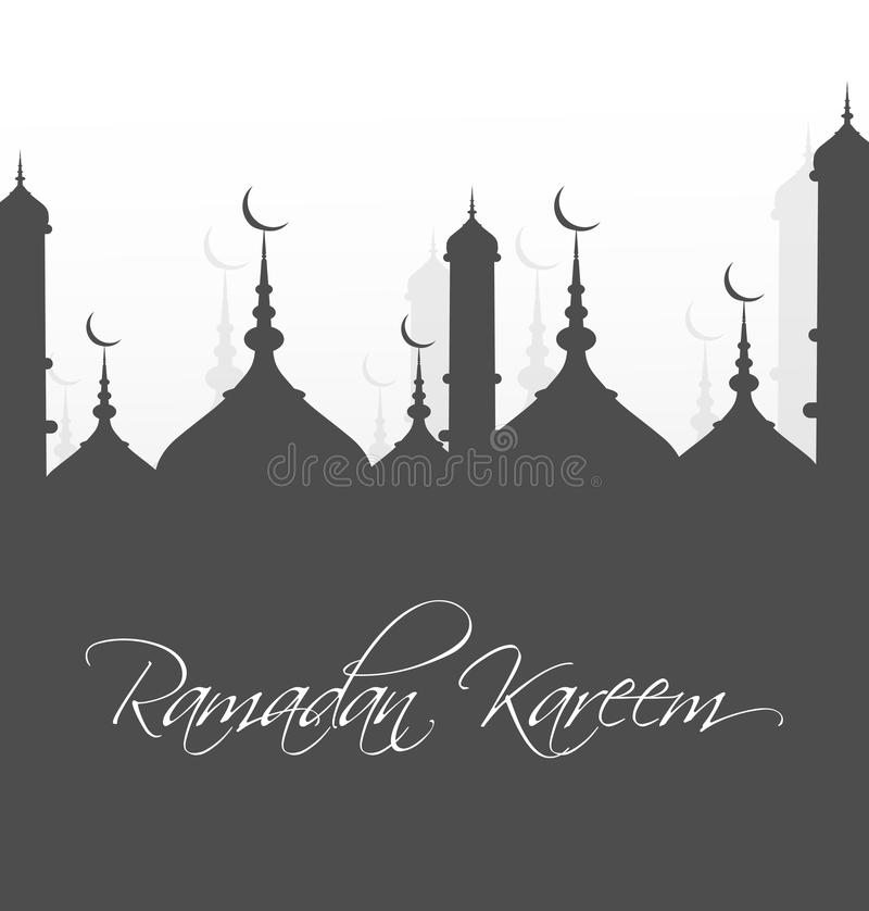 Ramadan Kareem Mosque-achtergrond stock illustratie