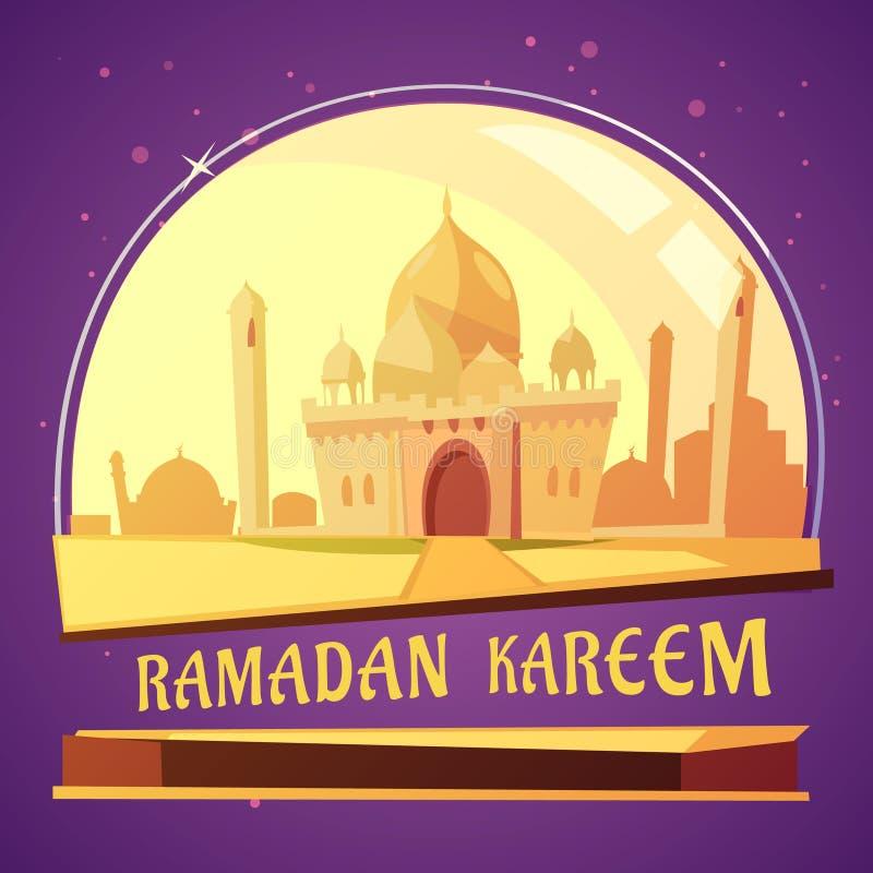 Ramadan Kareem Mosque Illustration stock de ilustración