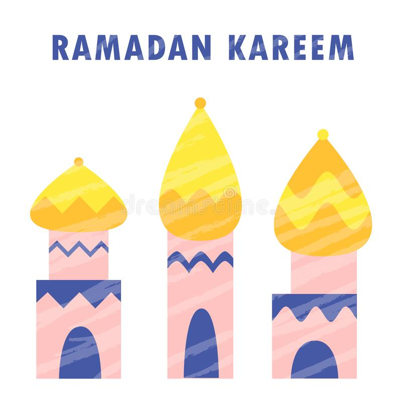 Ramadan kareem mosque muslim islam  religion arabic celebration mubarak stock illustration