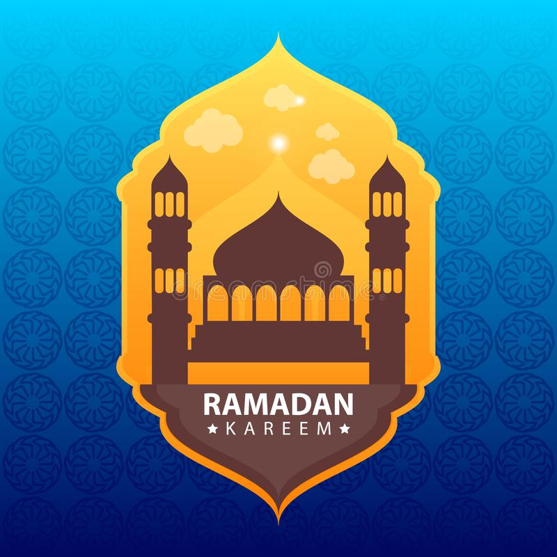 Ramadan kareem na koloru abstrakta tle ilustracja wektor