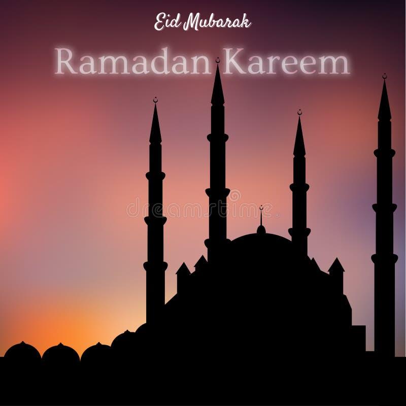 Ramadan Kareem - noites santamente islâmicas ilustração do vetor