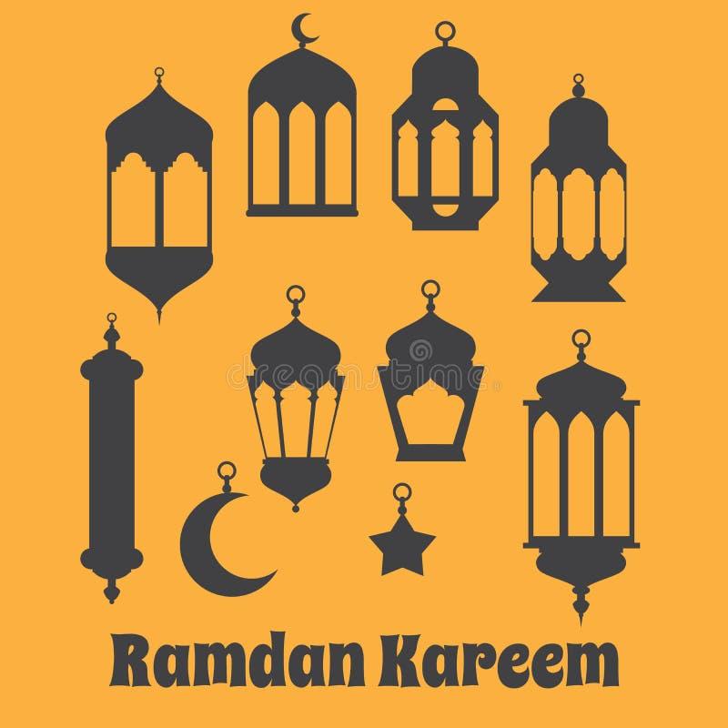 Ramadan Kareem - noites santamente islâmicas, fundo do projeto do tema, R ilustração royalty free
