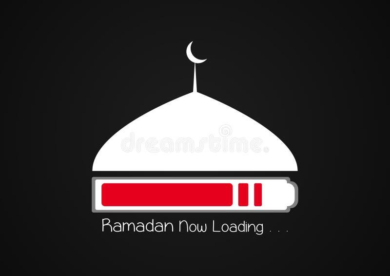 Ramadan Kareem Now päfyllning islamisk designmosk?kupol vektor illustrationer