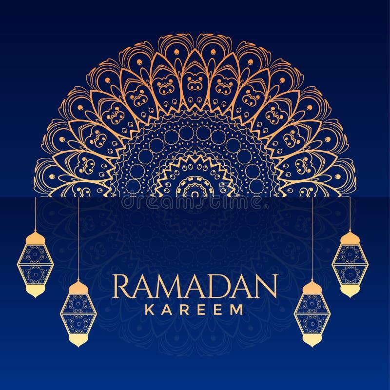Ramadan kareem ornamentacyjny dekoracyjny tło royalty ilustracja