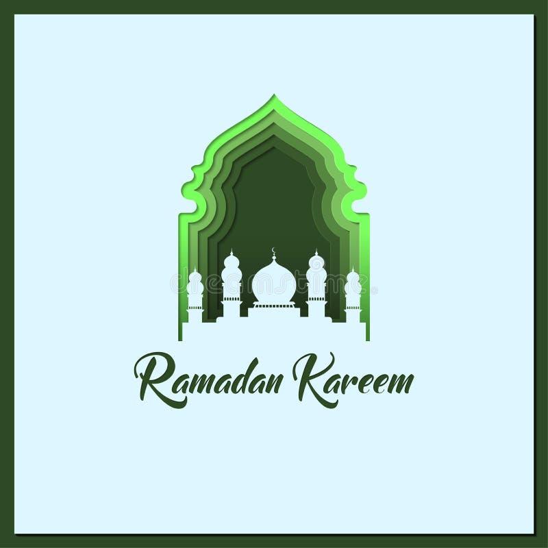 Ramadan Kareem papieru ci?cia styl royalty ilustracja