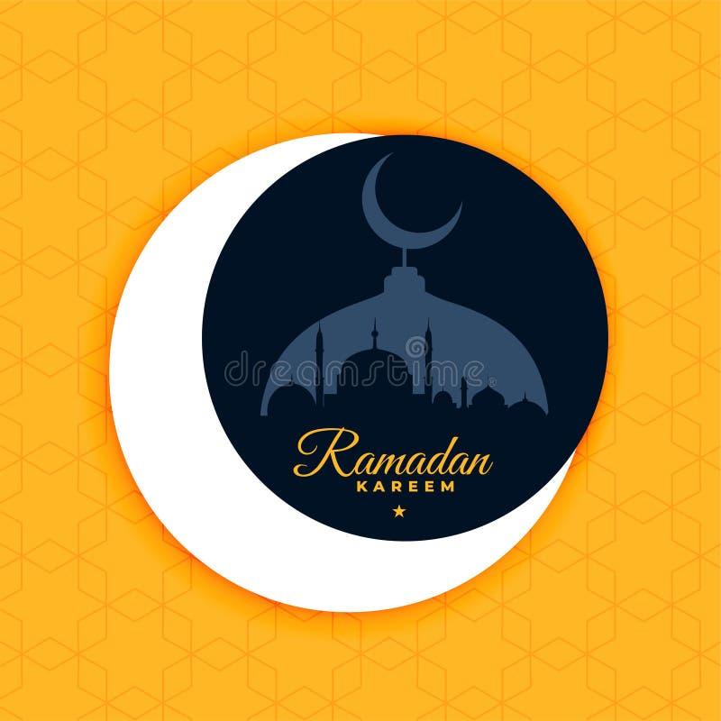 Ramadan kareem plakatowy projekt w płaskim koloru stylu royalty ilustracja