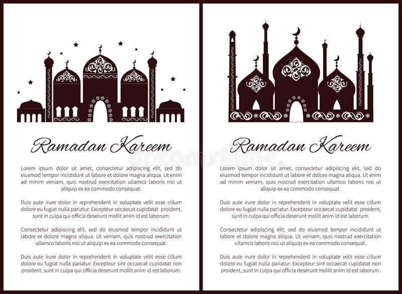 Ramadan Kareem Posters Set Vector Illustration libre illustration