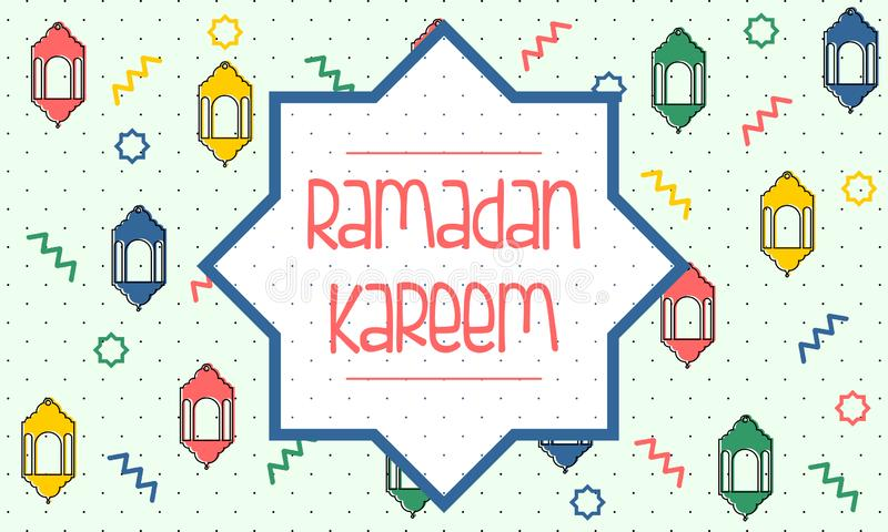 Ramadan Kareem powitania szablon - wektor royalty ilustracja