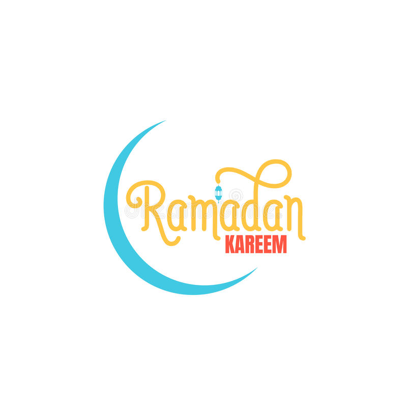 Ramadan Kareem Ramadan typografisch embleem Ontwerplay-out voor Islamitische vakantie