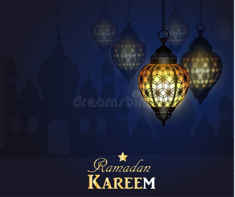 Ramadan Kareem som hälsar bakgrund vektor illustrationer