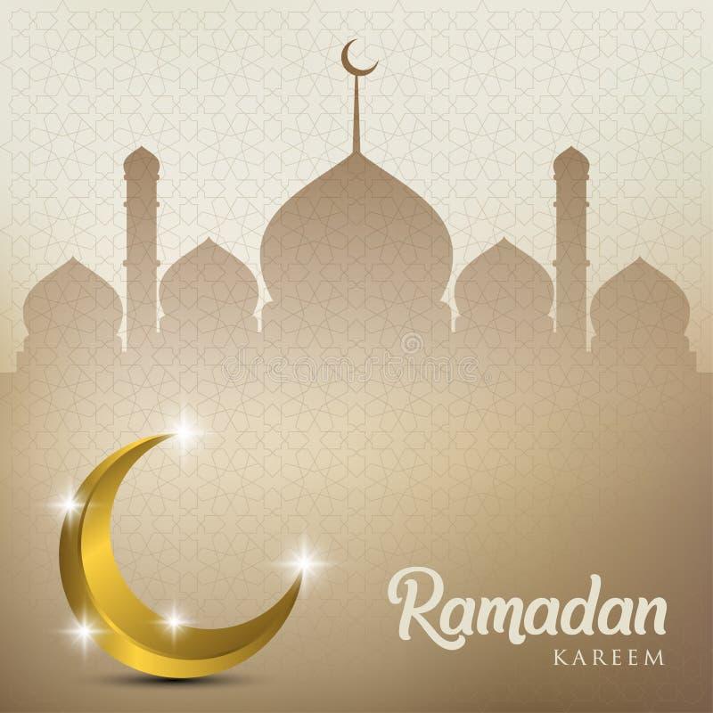 Ramadan kareem tło, ilustracja z, kopuła, złota ozdobna półksiężyc, gwiazdy i meczetu, EPS 10 zawiera przezroczystość - wektor ilustracja wektor