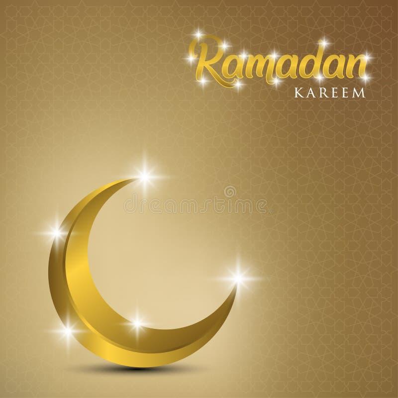Ramadan kareem tło, ilustracja z złotą ozdobną półksiężyc EPS 10 zawiera przezroczystość - wektor ilustracji