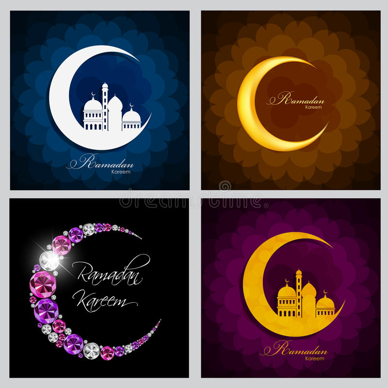 Ramadan Kareem tła kolekci Ustalony projekt