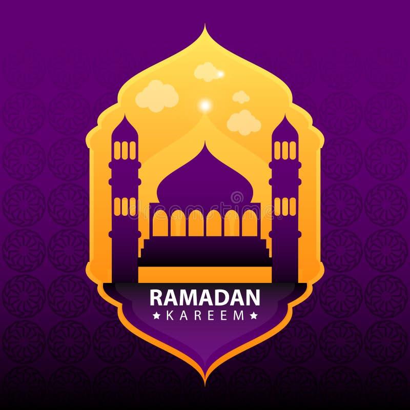 Ramadan Kareem tła wektor ilustracja wektor