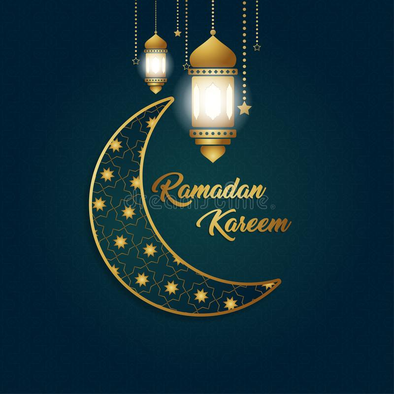 Ramadan Kareem tła wyłączny wzór royalty ilustracja