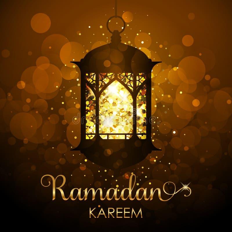 Ramadan Kareem tło - świąteczna karta zdjęcia royalty free