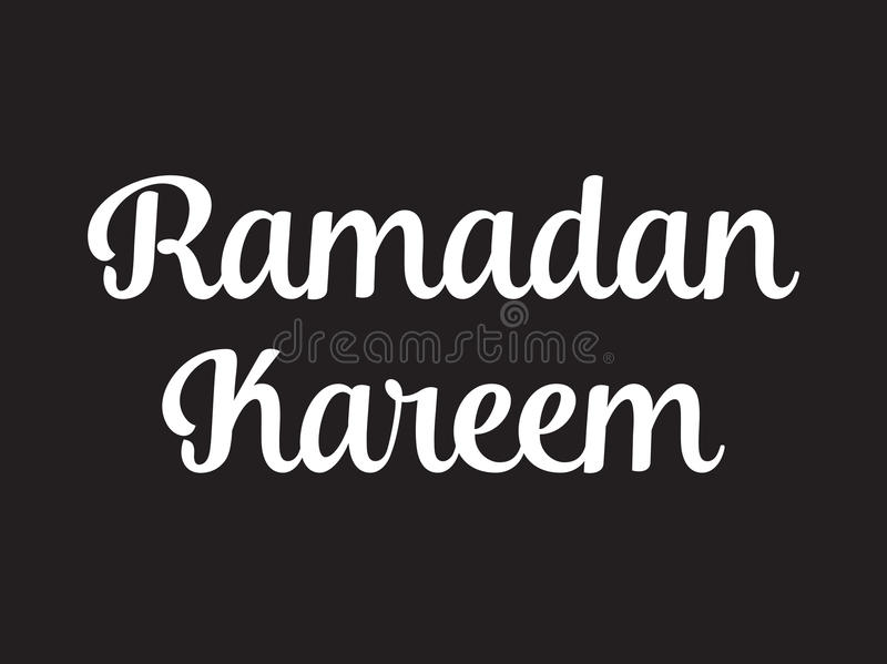 Ramadan kareem text design royalty free illustration