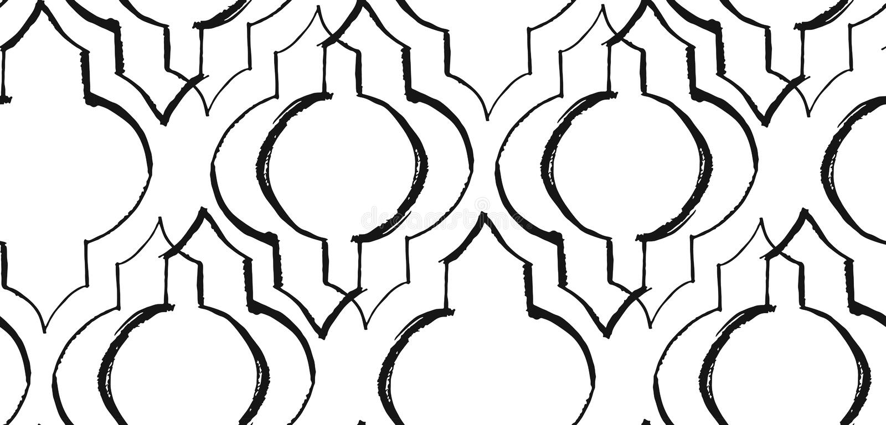 Ramadan Kareem textured o teste padrão sem emenda do vetor com uma lanterna moderna especialmente para o desejo e o projeto da ra ilustração stock