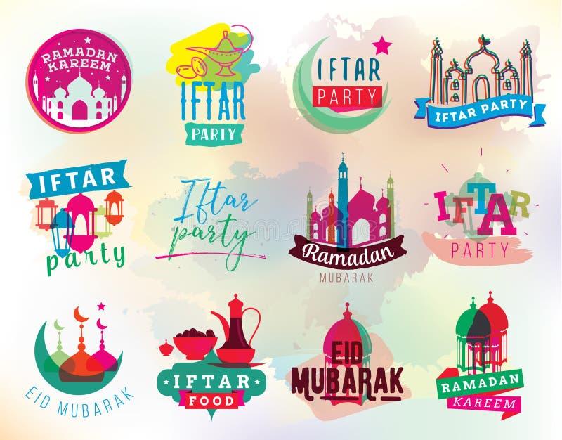 Ramadan-kareem Vektorgraphik Iftar-Partei lizenzfreie abbildung