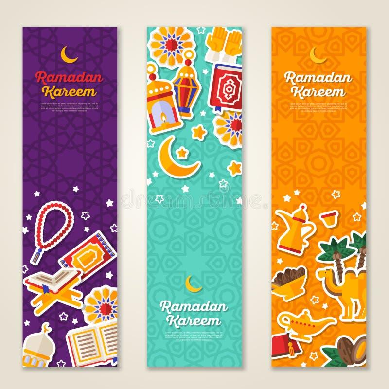 Ramadan Kareem vertical banners royalty free illustration