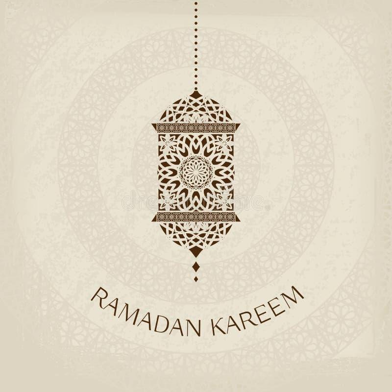 Ramadan Kareem wektoru kartka z pozdrowieniami ilustracja wektor