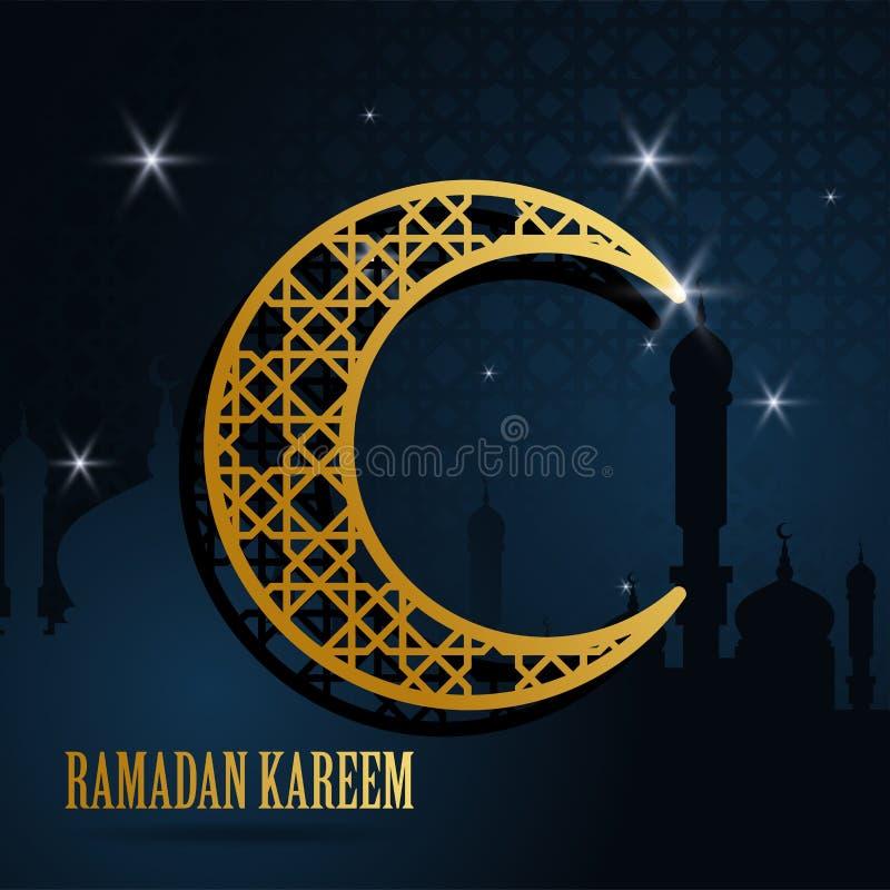 Ramadan kareem wita islamskiego projekt z księżyc islamskim wzorem r?wnie? zwr?ci? corel ilustracji wektora ilustracja wektor