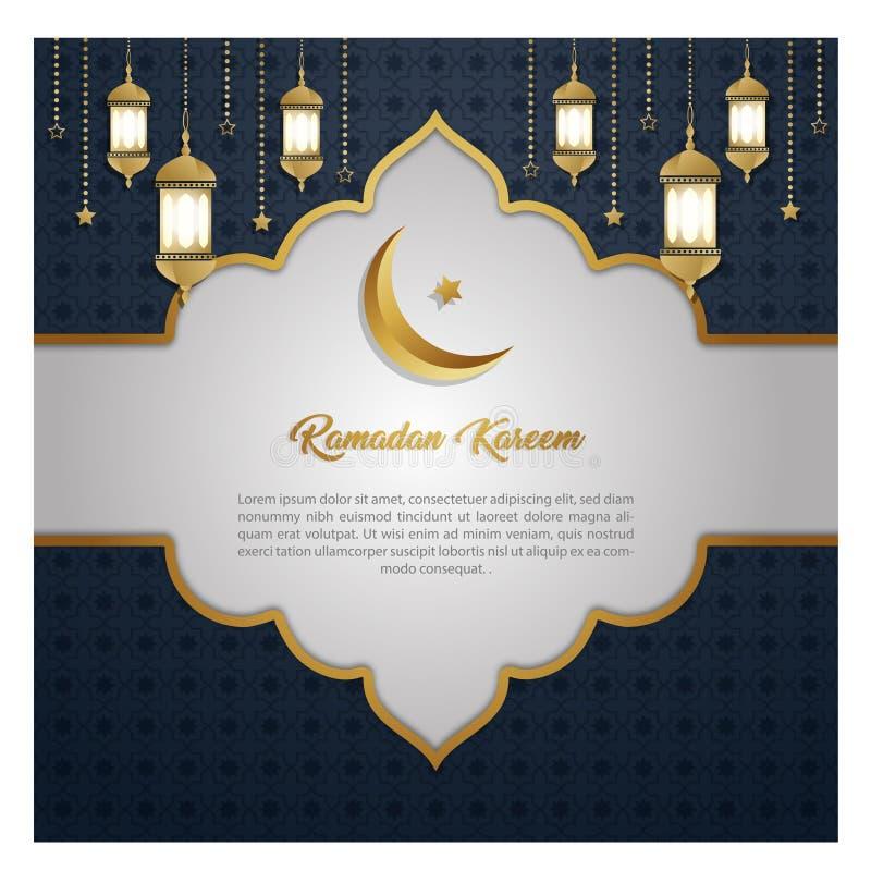 Ramadan Kareem wyłącznego zaproszenia karciany projekt ilustracji