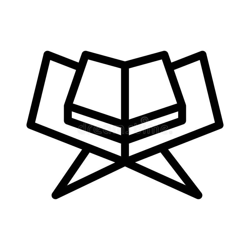 Ramadan Koran Holy Book Journal-Islam-Religions-Kultur-Vektor-Linie Ikonen Editable Anschlag und Farbe stock abbildung