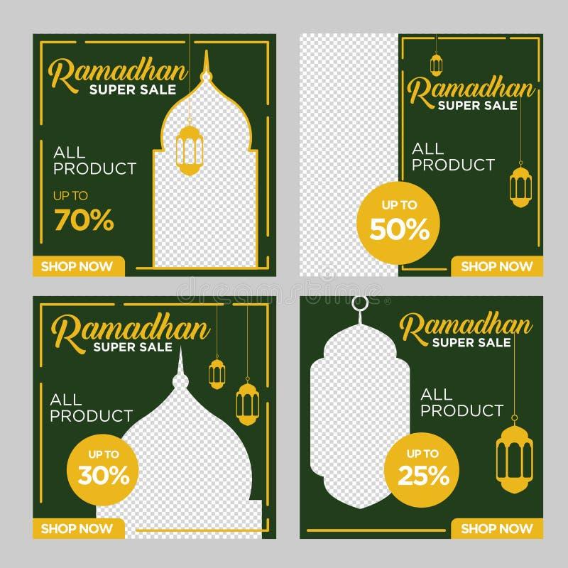 Ramadan kwadrata sztandar przejrzysty royalty ilustracja
