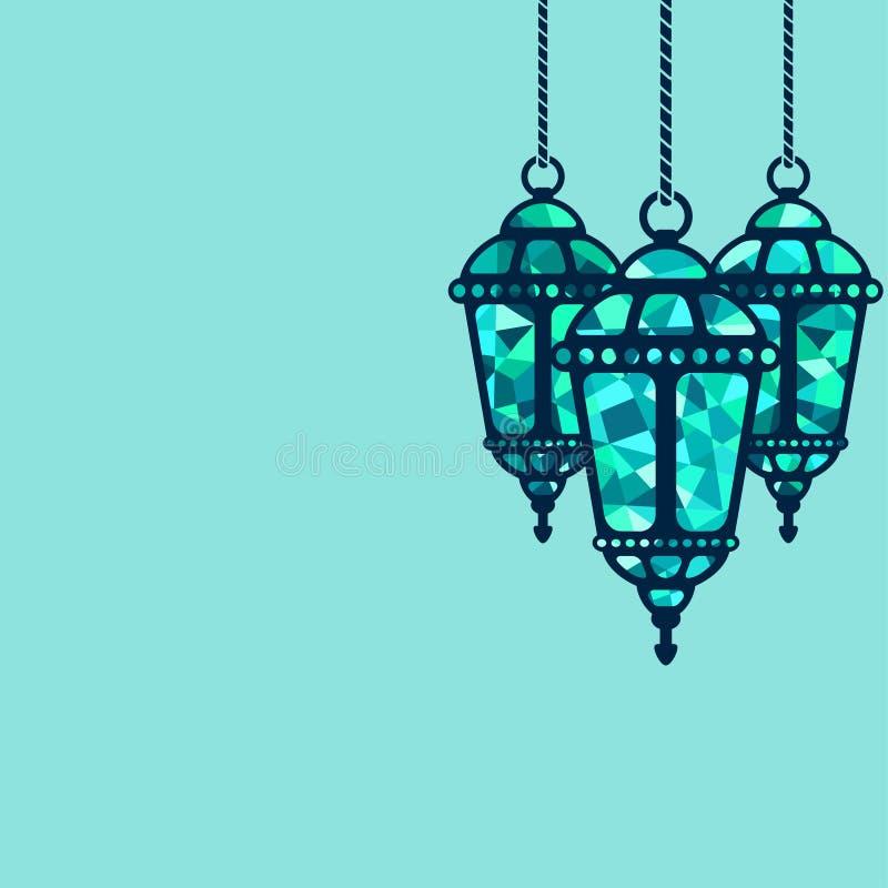 Ramadan lampionu tło