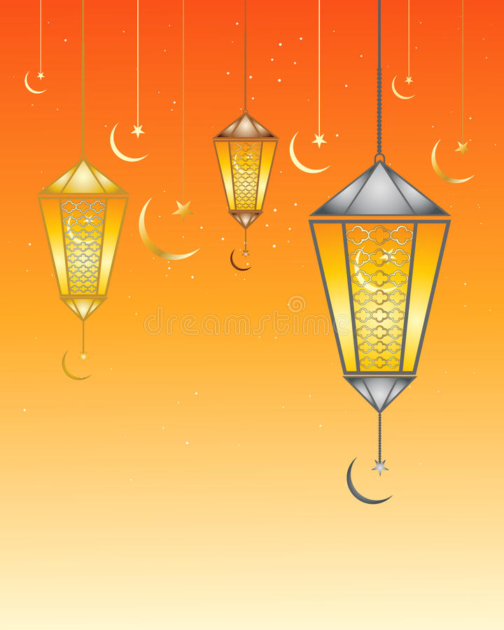 Ramadan lamps vector illustration
