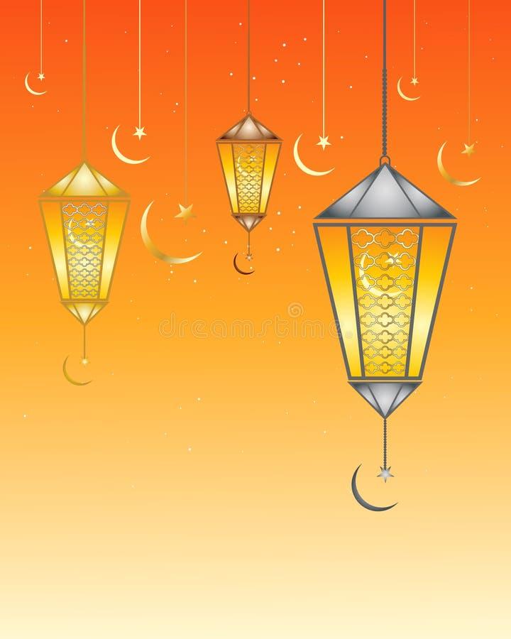 Ramadan lampy ilustracja wektor