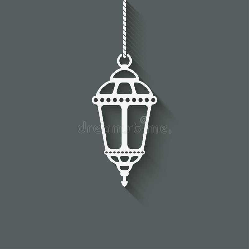 Ramadan-Laternengestaltungselement lizenzfreie abbildung