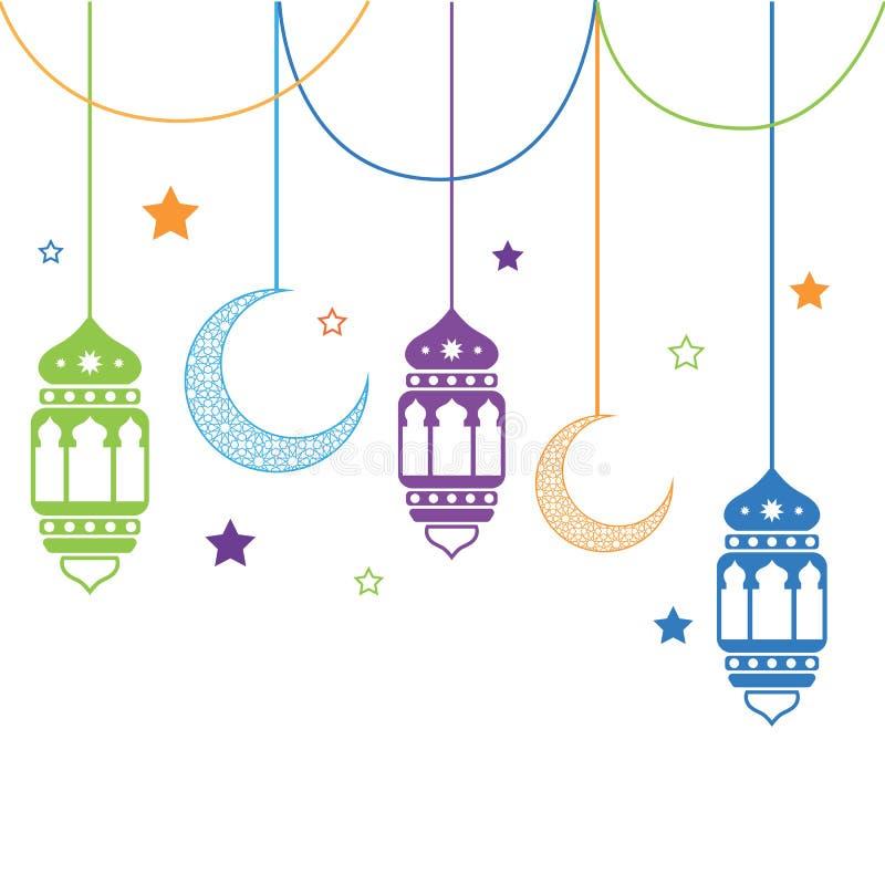 Ramadan-Laternenmond-Illustrationssterne lizenzfreie stockfotografie