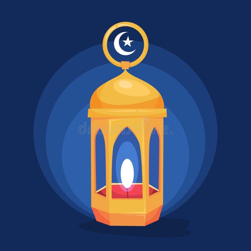 ramadan lykta Muslimskt baner för ferieberömrengöringsduk vektor illustrationer