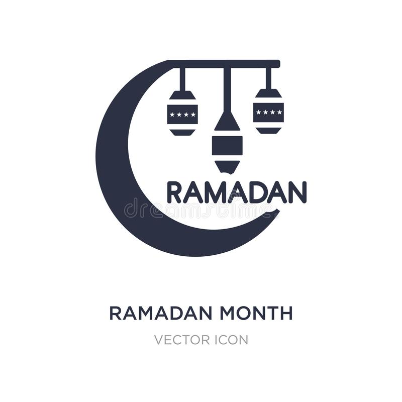 ramadan månadsymbol på vit bakgrund Enkel beståndsdelillustration från religionbegrepp stock illustrationer
