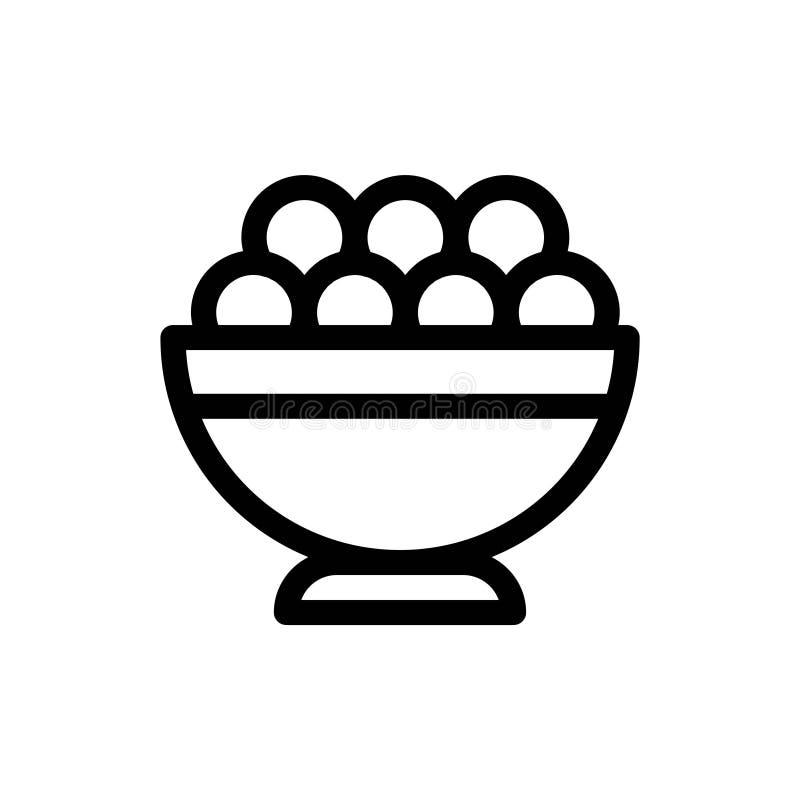 Ramadan Meal Food Fasting Islam-Vector de Lijnpictogrammen van de Godsdienstcultuur o stock illustratie