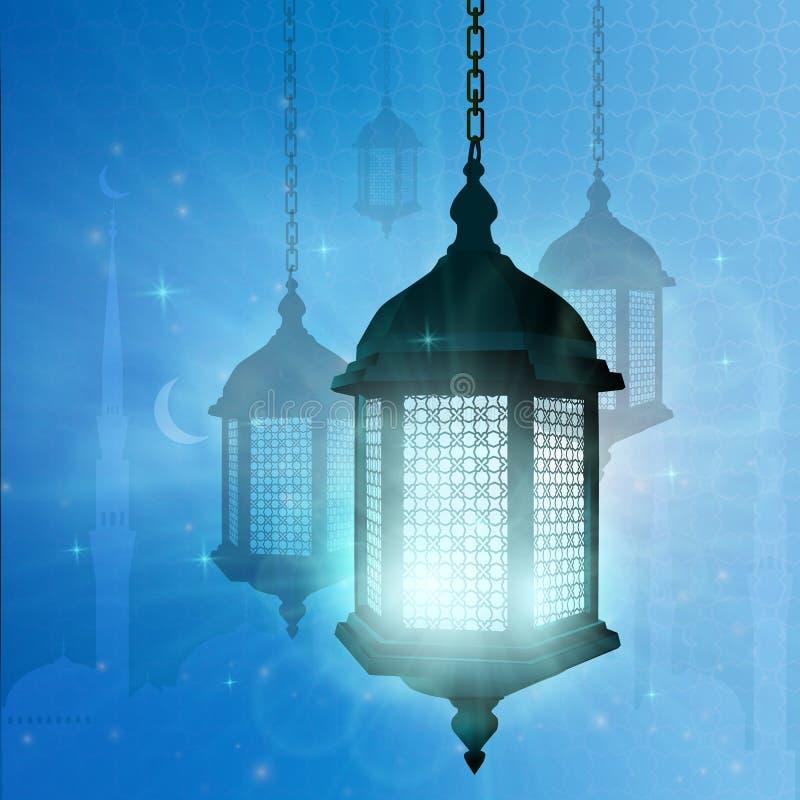 ramadan Moslemische Illustration mit Ramadan für dekoratives Design lizenzfreie abbildung