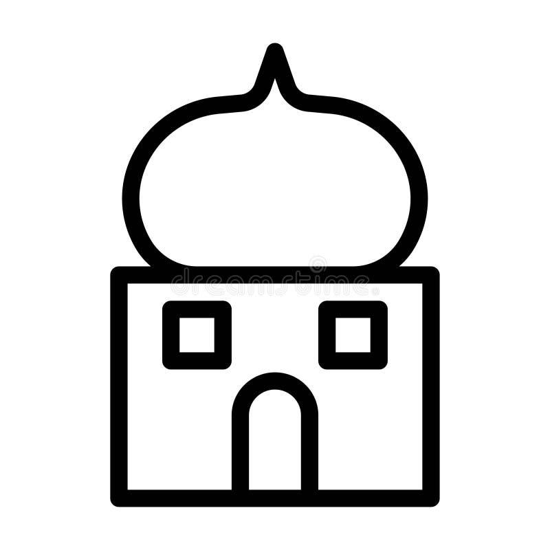 Ramadan Mosque Building Architecture Islam-Vector de Lijnpictogrammen van de Godsdienstcultuur o vector illustratie
