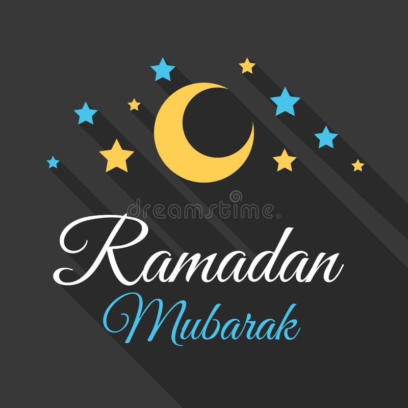 Ramadan Mubarak-groetachtergrond stock illustratie