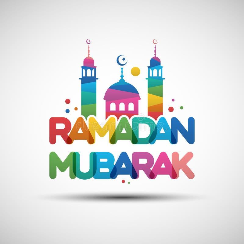 Ramadan Mubarak-het ontwerp van de groetkaart vector illustratie