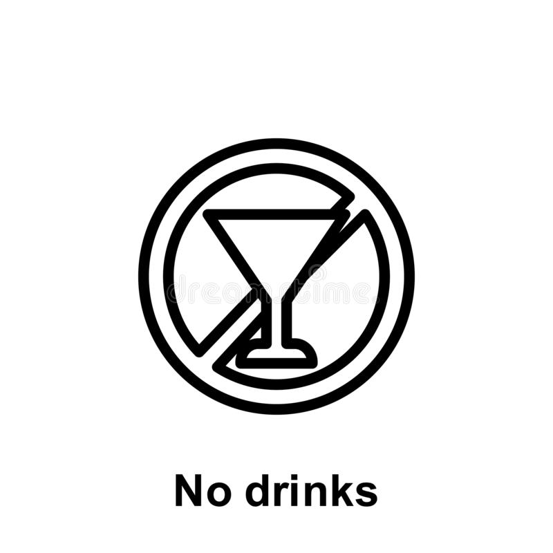Ramadan ne boit non l'ic?ne d'ensemble ?l?ment d'ic?ne d'illustration de jour de Ramadan Des signes et les symboles peuvent ?tre  illustration libre de droits